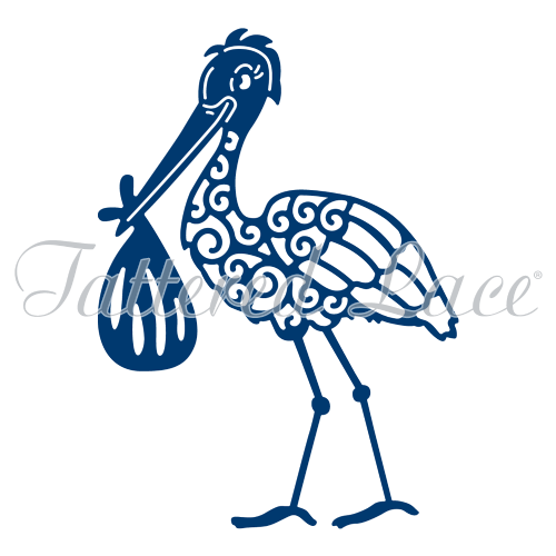 Tattered Lace Die - Stork